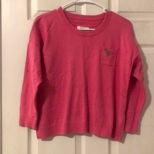Pink 3/4 length sleeve sweater | large